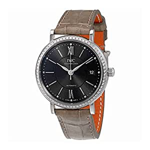 IWC Portofino Anthracite Dial Diamond Automatic Unisex Watch 4581-04