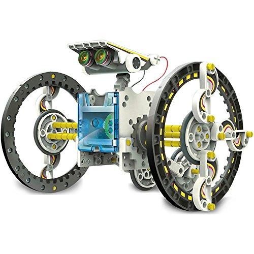 Forsining Solar Robot Toy DIY 14-in-1 Solar Powered Robot Model Robot Car Kit for Kids Age 8+ (14 In 1 Solar Robot Kit)