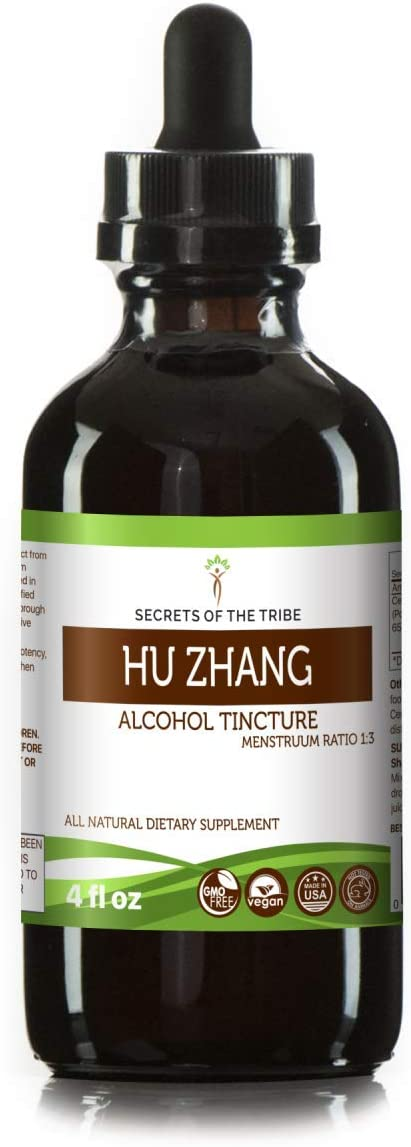 Hu Zhang Tincture Alcohol Extract, Organic Hu Zhang Polygonum cuspidatum Dried Root 4 oz