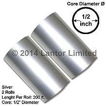 Setof2 Hot Foil Stamp Rolls 400 Ft 2 Rolls 200 Ft each Silver