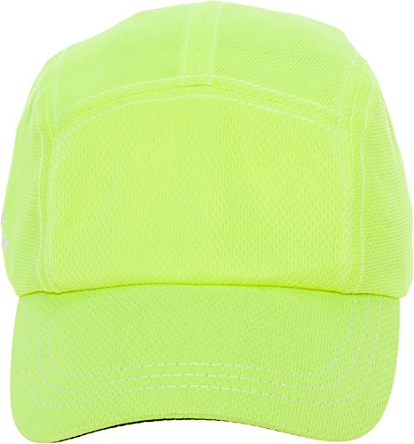 Headsweats Race Performance Sport Hat Cap (Neon Yellow w/Contrast Stitching) -