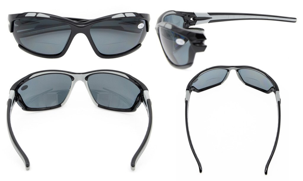 gafas de sol bifocales de lectura polarizadas gafas tintadas ...