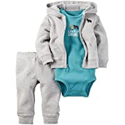 Carter's Baby Boys' 3 Piece Sets, Heather, 3 Months