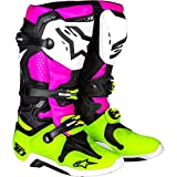 Alpinestars LE 'Radiant' Tech 10 Men's Off-Road Motorcycle Boots - Black/White/Pink / 10