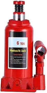 8T Sollevatore Idraulico a Bottiglia Cric Idraulici Professionale Cricco Auto Idraulico Martinetto Idraulico Jack per Carrozzeria Veicoli Piccoli Camion Auto Riparazione di Pneumatici Sollevamento