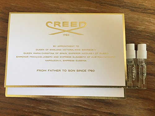 Lot of 2 Creed Aventus For Her Fragrance Sample Vial On Card