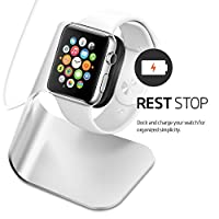 Apple Watch Stand 2015 [Aluminum Build Cradle Holds Apple Watch] - Comfortable Viewing Angle Easy Use Quick Connection for Apple Watch