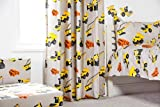 Ready Steady Bed Diggers Design Children's 66' x 72' Curtain Pair with Tie Backs