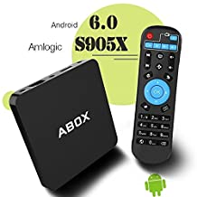 2017 GooBang Doo ABOX A1 Android 6.0 Marshmallow TV Box 1GB/8GB, Amlogic S905 X 64 Bits Quad Core and Supporting 4K (60Hz) Full HD/H.265/WiFi 2.4GHz