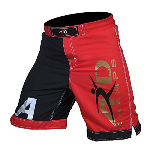 ARD Pro MMA Fight Shorts UFC Cage Fight Grappling Muay Thai Boxing R&B XS-3XL (Large)