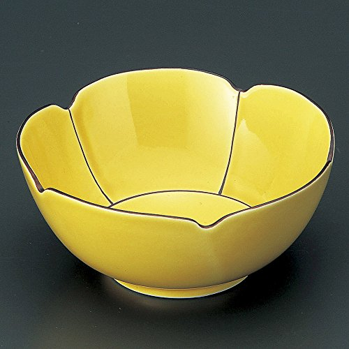 Rust Gemstone (Arita burnt gemstone rust line yellow glaze type small bowl Arita ware size [ 12.5 x 5.7cm ] 260g Japanese dish plates traditional oriental asian)