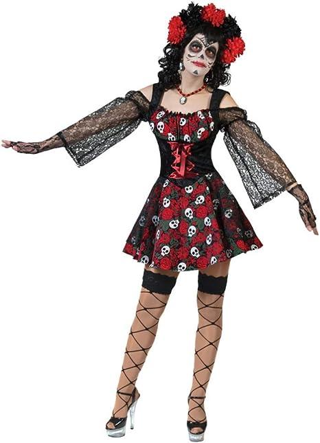Disfraz de pirata mujer Día de los Muertos S: Amazon.es: Juguetes ...