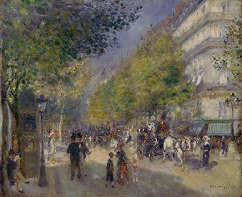 Auguste Renoir Giclee Canvas Print Paintings Poster Reproduction … (The Grands Boulevards) - Auguste Renoir Les Grands Boulevards