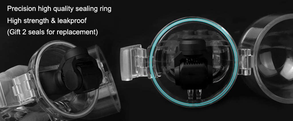 White KASAAS Diving Case for Osmo Pocket 60 Meter Waterproof Underwater Shell Housing Gimbal Camera Cases Transparent