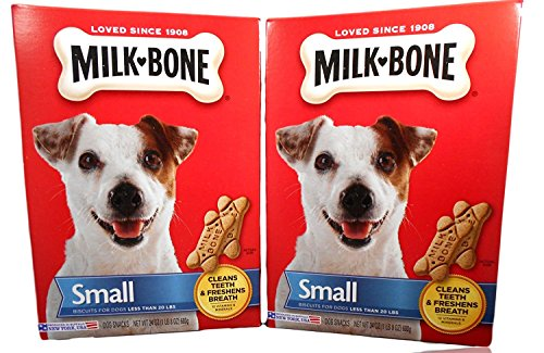 Milk-Bone 084282984616 Traditional Bone Shaped Biscuits (Small) for Dogs, 24 oz (2 Pack)