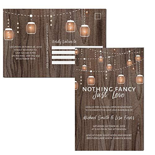 Wedding Reception Invitation Postcards, Reception Invitation ()
