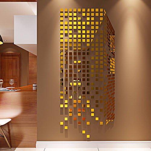 El mosaico Acrílico sólido 3d carteles espejo pegada al televisor ...