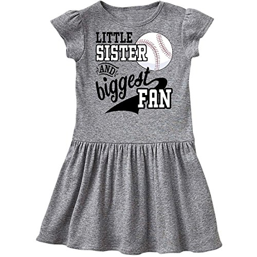 inktastic - Little Sister and Biggest Fan- Toddler Dress 4T Heather Grey 2a7dd]()