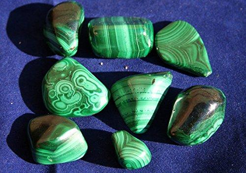 Green Malachite Beautiful Semi Precious Medium Tumbled Stone Specimen 3-5 cms