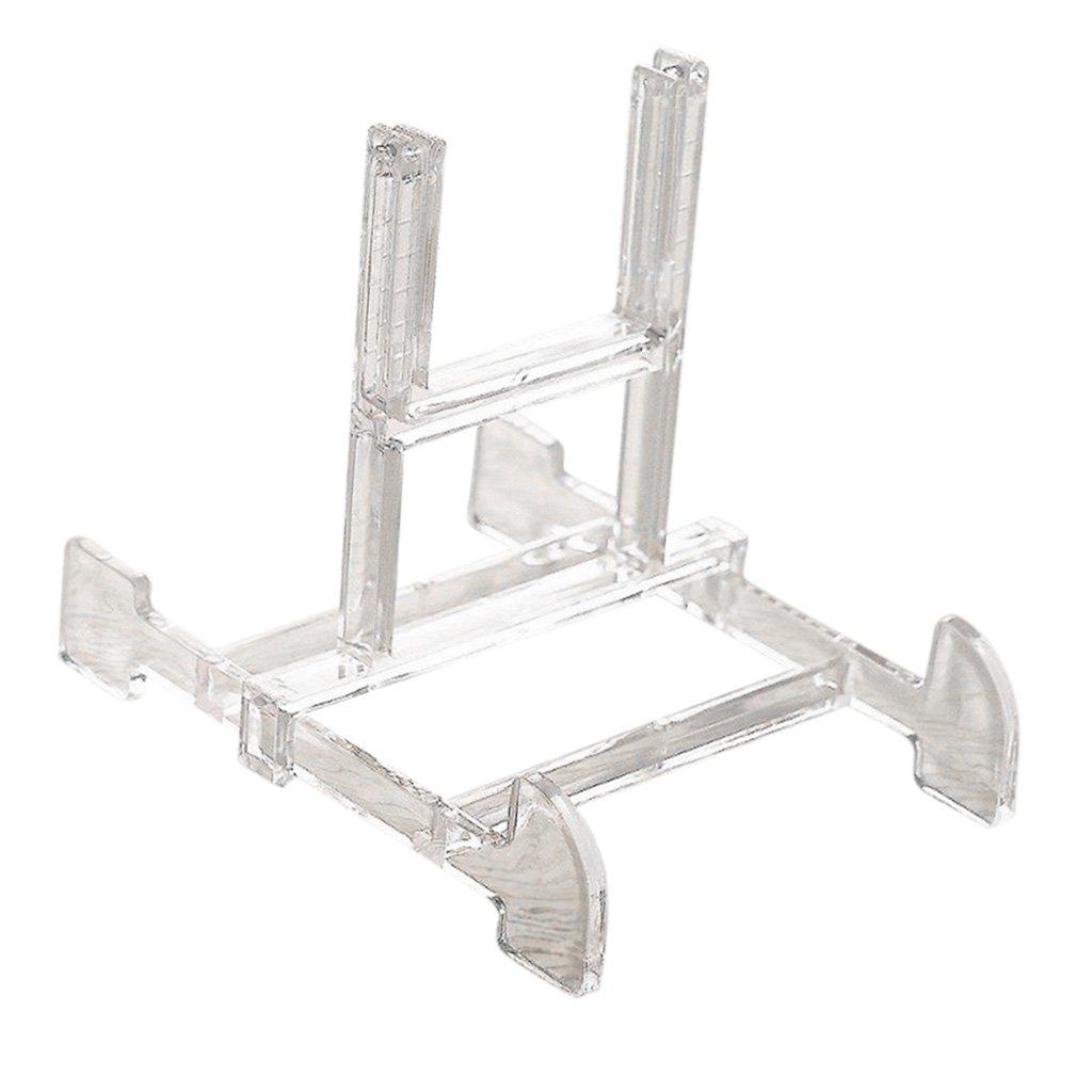 Clear Blesiya Adjustable Display Stand Easel Plate Bowl Holder Art Photo Picture Frames Holder Book Pedestal Holder
