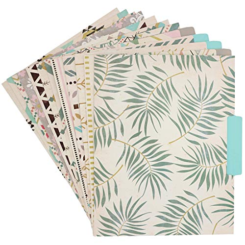 Best Paper Greetings 12 Count Bohemian Decorative File Organizer Folders, Letter Size]()