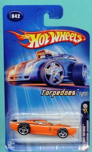 Mattel Hot Wheels 2005 First Editions 1:64 Scale Torpedoes Orange 1971 Dodge Charger Die Cast Car (One 1st Edition)