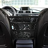 AMEIQ Car Mesh Organizer, Backseat Storage Net Bag, Barrier of Seat Back Pet