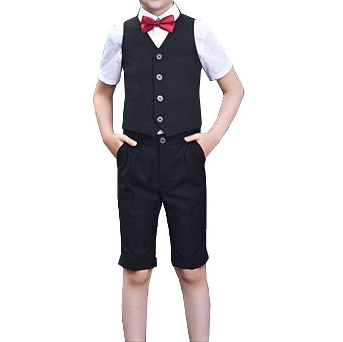 Amazon.com: YUFAN - Trajes formales de verano para niños ...