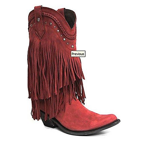 Vrijheid Zwarte Dames Vegas Rojo Westernlaarzen Rood