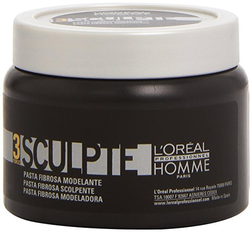 L'Oreal Professionnel Homme Force 3 Sculpte Sculpting Fibre Paste Unisex, 5 Ounce (Homme Gel)