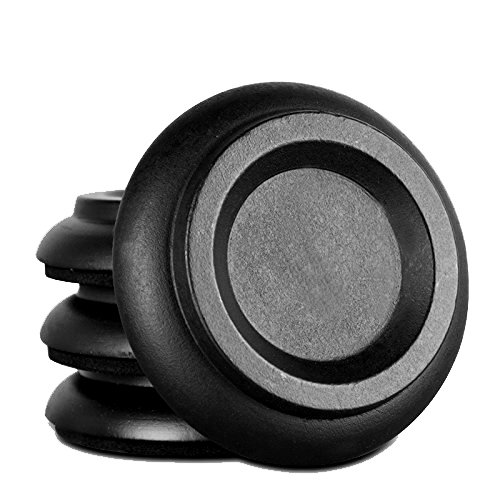 Soarun Hardwood Piano Caster Cups with EVA Foam Piano Pad Furniture Round Load Bearing Pads Set of 4 (Black Wood)