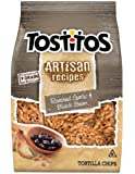 Tostitos Artisan Recipes Roasted Garlic and Black Bean Tortilla Chips, 6oz Bags (Pack of 8)