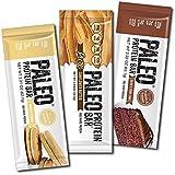 Paleo Protein Bars® Variety Box (New Flavors) (20g Protein) (12 Bars) w/Prebiotics Low Net Carb Gluten Free