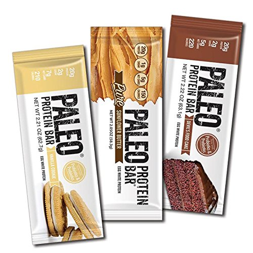 Paleo Protein Bars® Variety Box (New Flavors) (20g Protein) (12 Bars) w/Prebiotics Low Net Carb Gluten Free