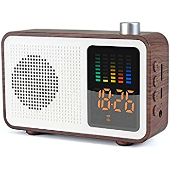 Amazon.com: GOgroove Alarm Clock Radio Bluetooth Speaker
