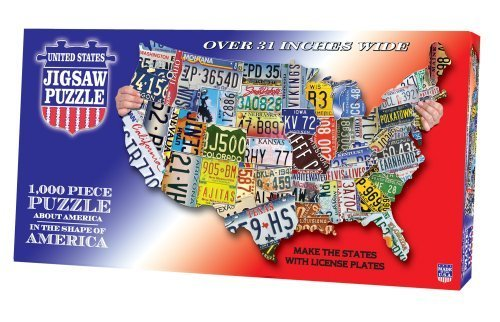 Amazoncom USA License Plates Jigsaw Puzzle Pieces Toys - Us map with license plates