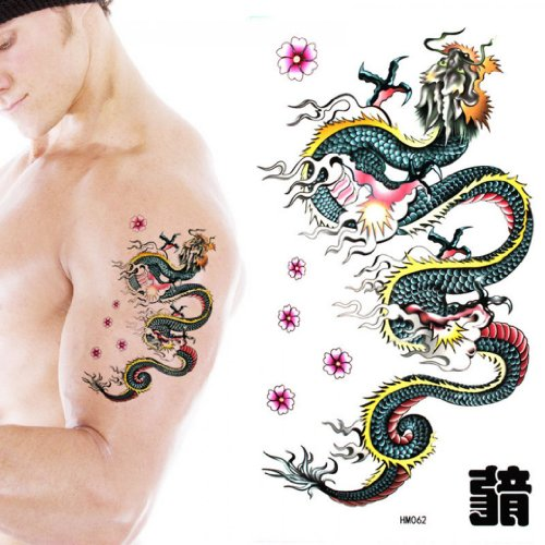Tattoo size realistic temporary tattoo for Realistic temporary tattoos