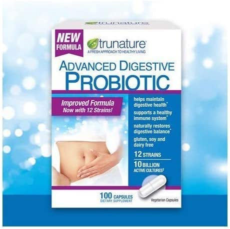 Trunature Digestive Probiotic Capsules, Healthy Immune System 2Pack (100 Count) Product is Recommended