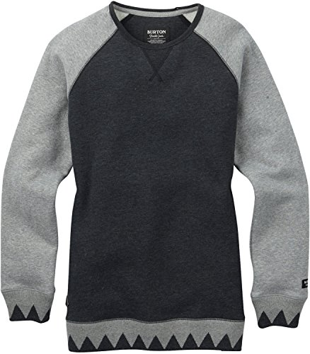 Burton Women's Caratunk Crew, True Black Heather, Small (Crew Sweater Burton)