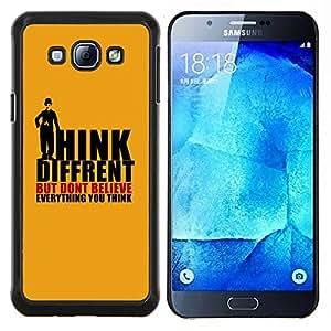 "Be-Star Único Patrón Plástico Duro Fundas Cover Cubre Hard Case Cover Para Samsung Galaxy A8 / SM-A800 ( Think Different creas Pensamientos Cita"" )"