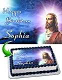 Jesus Christ Edible Cake Topper Personalized Birthday 1/4 Sheet Decoration Custom Sheet Party Birthday Sugar Frosting Transfer Fondant Image ~ Best Quality Edible Image for cake