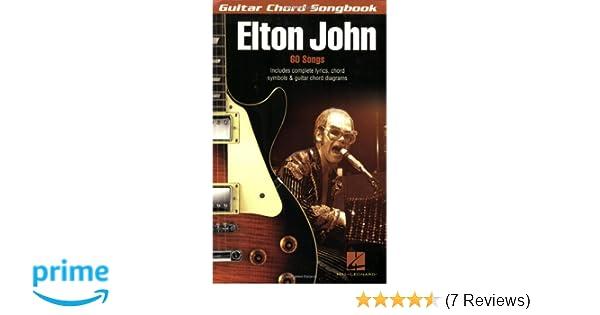 Amazon Elton John Guitar Chord Songbook Guitar Chord