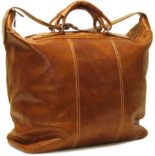 Floto Luggage Piana Tote Travel Bag, Olive/Honey Brown, Large