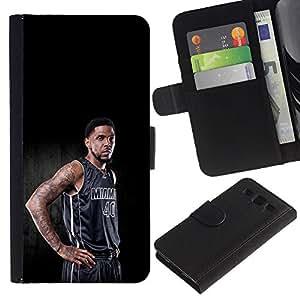 Miami 40 Baloncesto - la tarjeta de Crédito Slots PU Funda de cuero Monedero caso cubierta de piel Para Samsung Galaxy S3 III i9300 i747