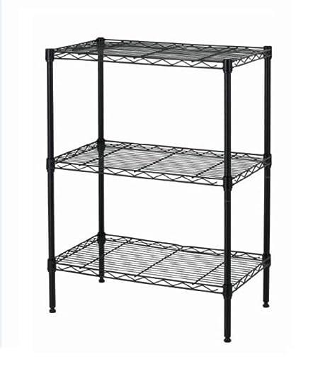 Wire Bakers Rack   Amazon Com Shelving 3 Shelf Steel Wire Tier Layer Shelving 13 X23