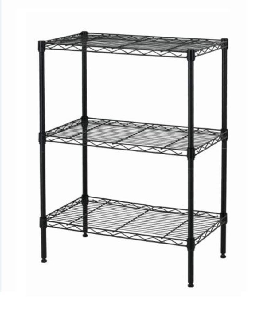 Shelving - 3-Shelf Steel Wire Tier Layer Shelving 13''x23''x 30'' Storage Rack - Bakers Rack - Wall Rack - Wire Shelf - Shoe Rack - Shelf in The Pantry - Bathroom Shelf - Organizer Home Kitchen Office.