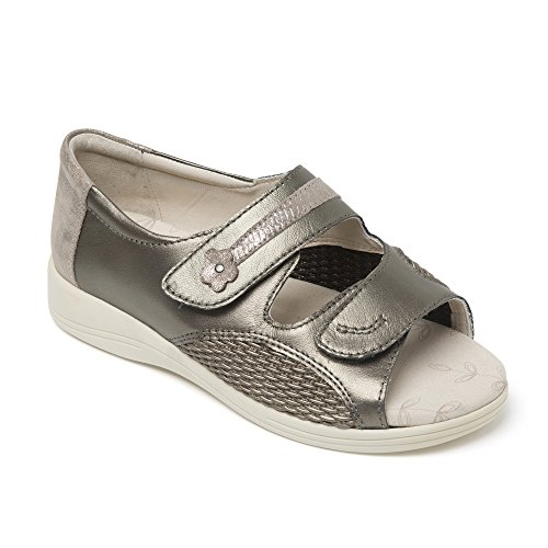 Leather Sandals 4E Metallic 3 Extra Graceful UK Ladies 3E Wide Padders gOw7Eqx
