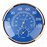 INNI Large Round Fahrenheit Celsius Thermometer Hygrometer Temperature Humidity Monitor Meter Gauge