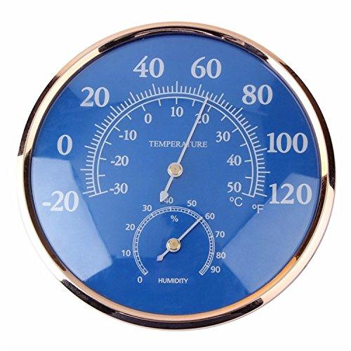 Inni Large Round Fahrenheit Celsius Thermometer Hygrometer Temperature Humidity Monitor Meter Gauge