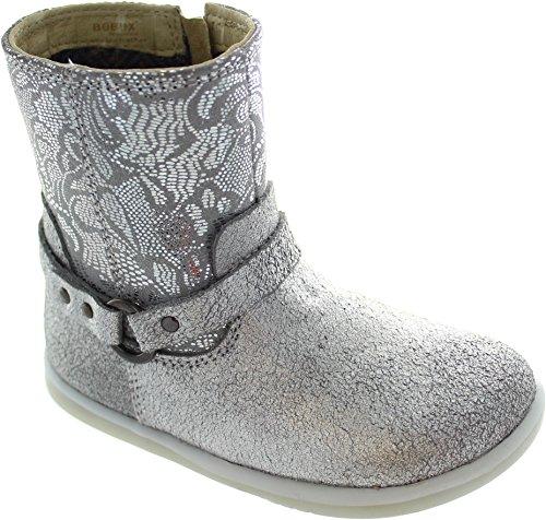 Stiefeletten amp; silber silber Bobux Stiefel Strap Boot walk Mädchen I YwYPvf0q